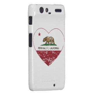 california flag penn valley heart distressed motorola droid RAZR cases