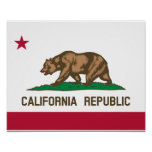 California Flag Poster