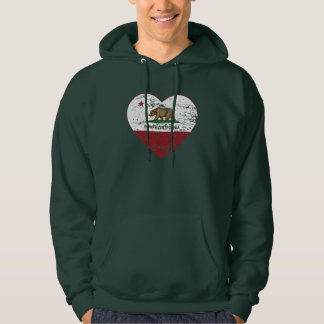 california flag poway heart distressed hoodie