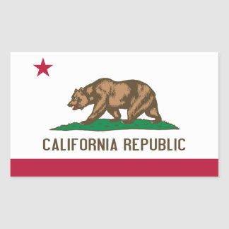 California Flag Rectangular Sticker