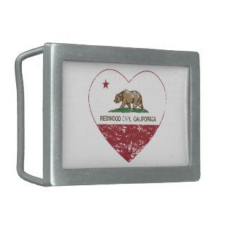 california flag redwood city heart distressed belt buckles