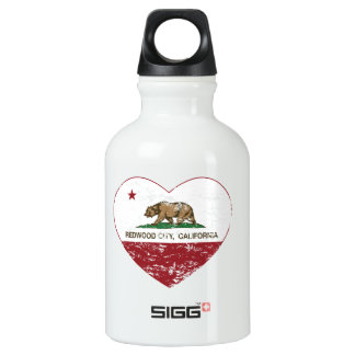 california flag redwood city heart distressed SIGG traveller 0.3L water bottle