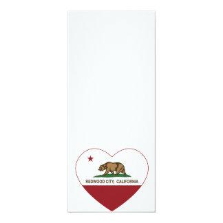 california flag redwood city heart personalized invite