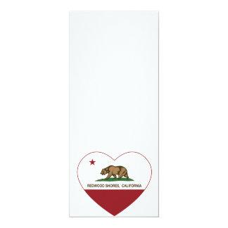 california flag redwood shores heart personalized invitation