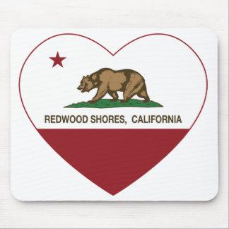 california flag redwood shores heart mousepads