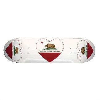 california flag redwood shores heart skate board decks