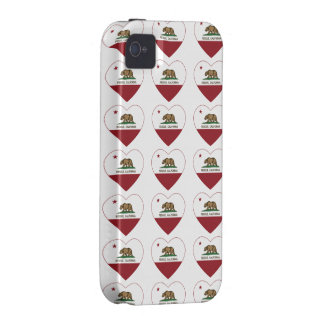 california flag rescue heart iPhone 4/4S cover