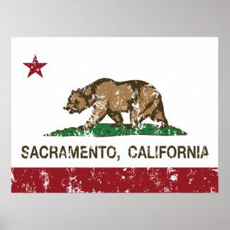 california flag sacramento poster