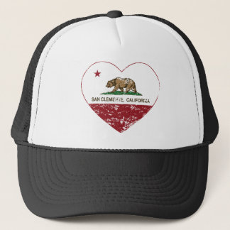 california flag san clemente heart distressed trucker hat