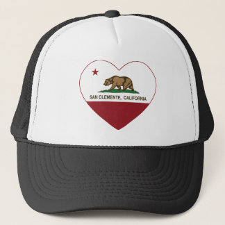 california flag san clemente heart trucker hat