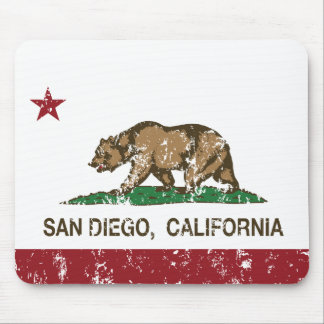 california flag san diego distressed mouse mat