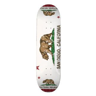 california flag san diego distressed skate deck