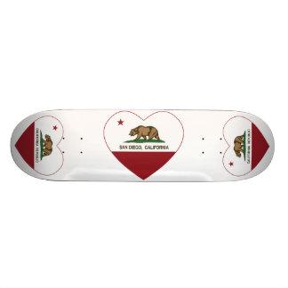 california flag san diego heart custom skate board