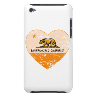 california flag san francisco heart distressed iPod touch case