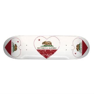 california flag san francisco heart distressed skate decks