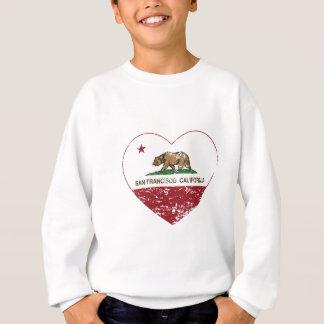 california flag san francisco heart distressed sweatshirt