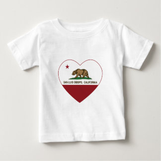 california flag san luis obispo heart baby T-Shirt