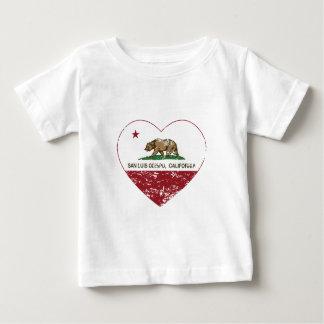 california flag san luis obispo heart distressed tshirts