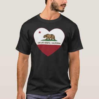 california flag san luis obispo heart T-Shirt
