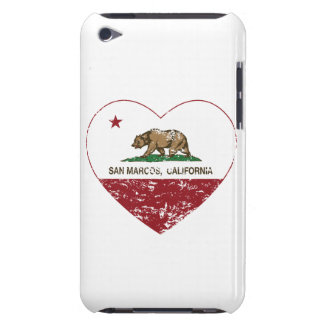 california flag san marcos heart distressed barely there iPod cases