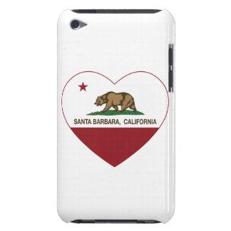 california flag santa barbara heart barely there iPod cases