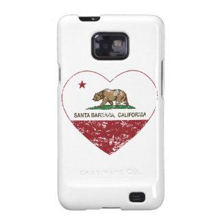 california flag santa barbara heart distressed samsung galaxy s2 cases