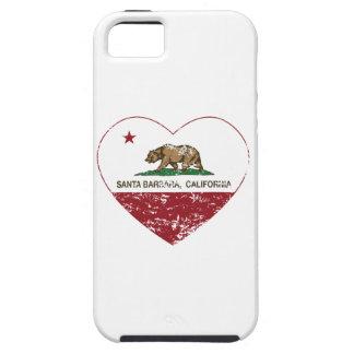 california flag santa barbara heart distressed iPhone 5 cases
