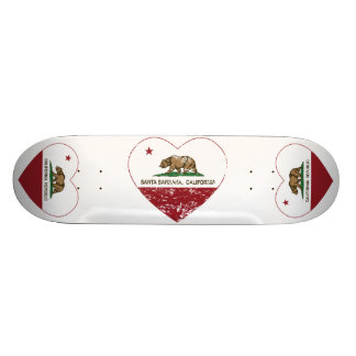 california flag santa barbara heart distressed skateboard