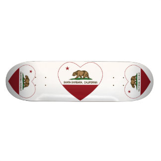 california flag santa barbara heart skate board decks
