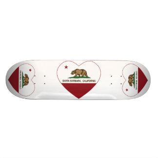 california flag santa barbara heart skate deck