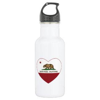 california flag santa rosa heart 532 ml water bottle
