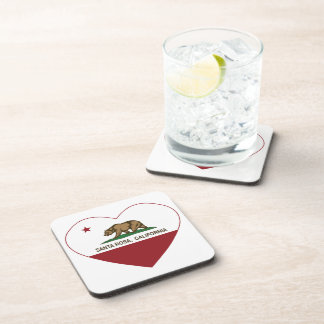 california flag santa rosa heart beverage coaster