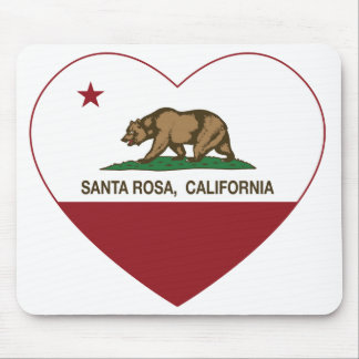 california flag santa rosa heart mouse pads