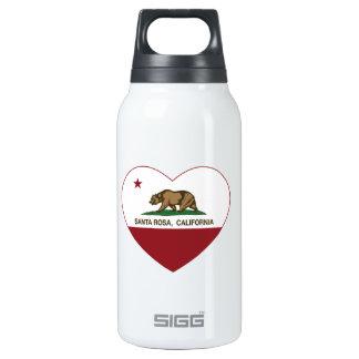 california flag santa rosa heart