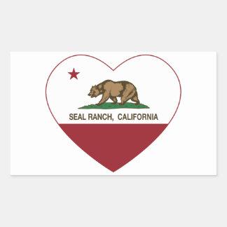 california flag seal ranch heart.png rectangular sticker
