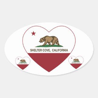 california flag shelter cove heart sticker