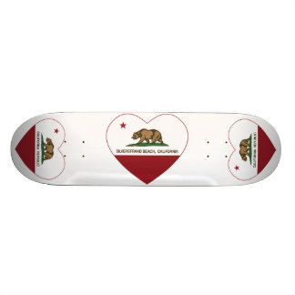 california flag silverstrand beach heart 21.6 cm old school skateboard deck