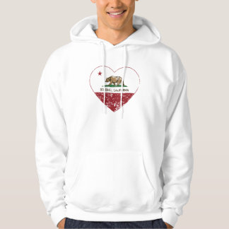 california flag soledad heart distressed hoodie