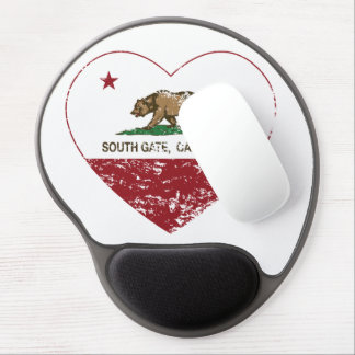california flag south gate heart distressed gel mouse pad