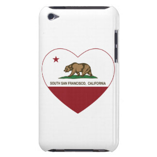california flag south san francisco heart barely there iPod case