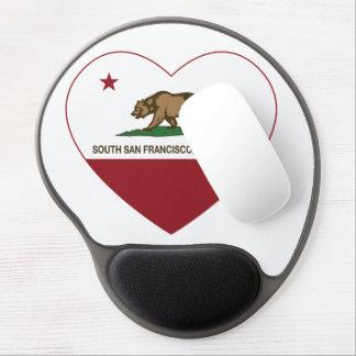 california flag south san francisco heart gel mouse pad