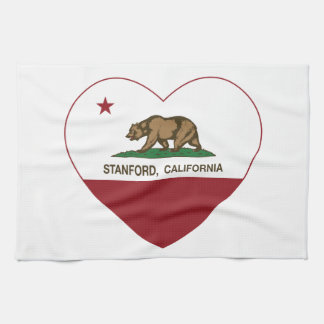 california flag stanford heart tea towel