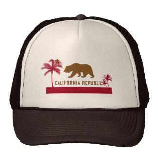 California Flag T-Shirt - Palm Trees & Beach Trucker Hat