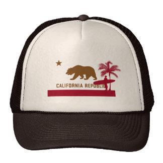 California Flag T-Shirt - Surfer on Beach Cap