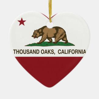 california flag thousand oaks heart ceramic heart decoration