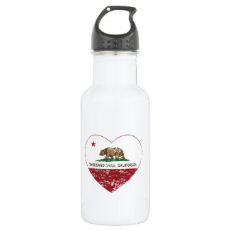 california flag thousand oaks heart distressed 532 ml water bottle