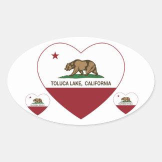 california flag toluca lake heart sticker