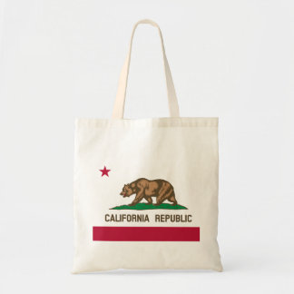 California Flag Budget Tote Bag