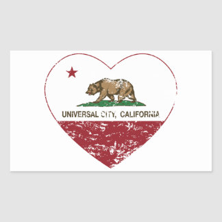 california flag universal city heart distressed rectangular stickers