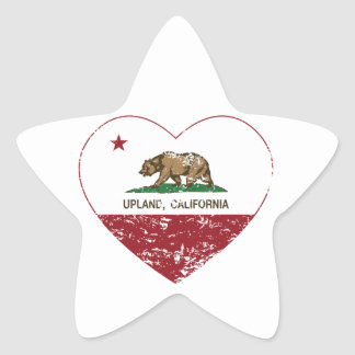 california flag upland heart distressed star sticker
